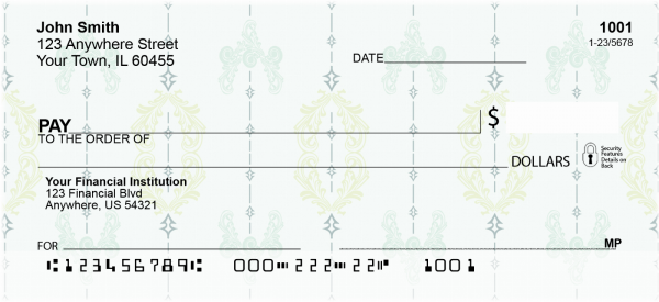 Vintage Wallpaper Personal Checks | CCS-33
