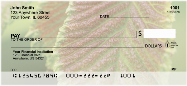 Amazing Leaves Personal Checks | CCS-37