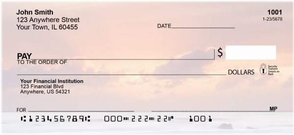 Beach Sunsets Personal Checks | CCS-40