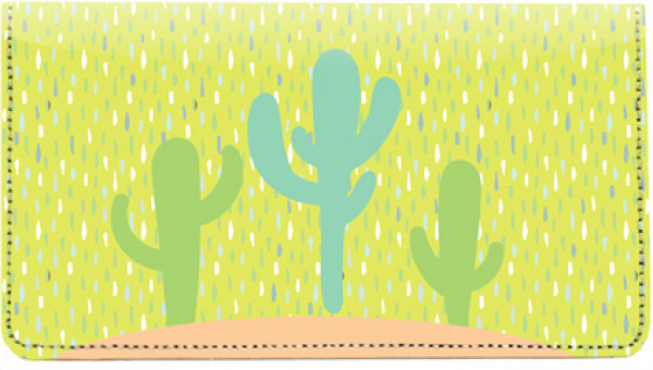 Colorful Cacti Leather Checkbook Cover | CDP-FLO001