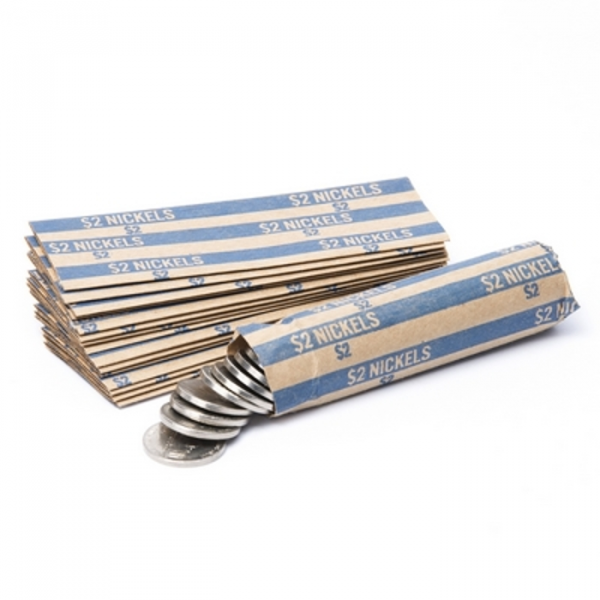 Flat Striped Nickel Coin Wrappers | CFW-010