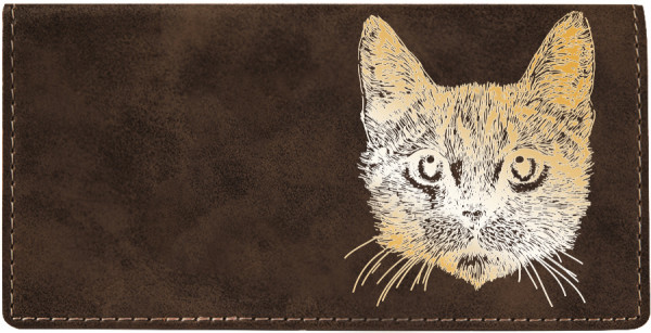 Tabby Cat Engraved Leather Cover | CLE-00002