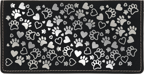 Paw Prints Engraved Leather Cover | CLE-00008