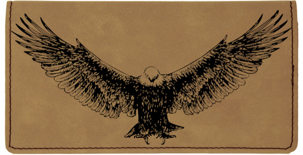 American Eagle Engraved Leather Cover | CLE-00009