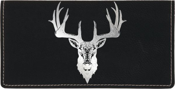 Big Horned Buck Engraved Leather Cover | CLE-ANK71