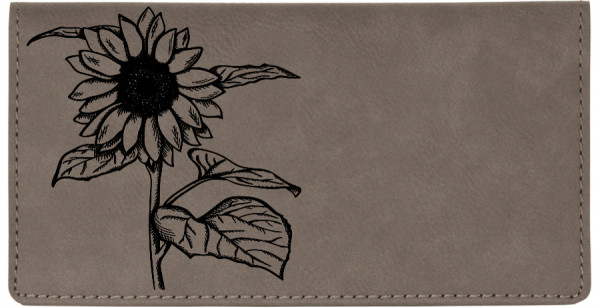 Joyous Sunflower Engraved Leather Cover | CLE-FLO77