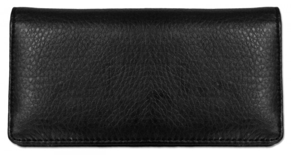 Black Textured Leather Checkbook Cover | CLP-BLA05