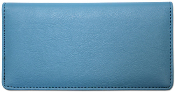 Light Blue Textured Leather Checkbook Cover | CLP-BLU06