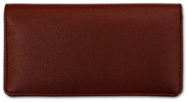 Burgundy Textured Leather Checkbook Cover | CLP-BUR03