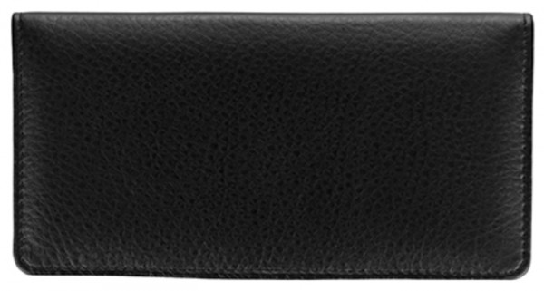Black Leather Side Tear Checkbook Cover | CLS-BLA01