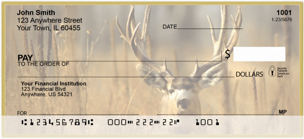 Deer In The Wild Personal Checks | CSS-84