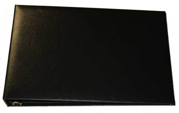 Black Business 7 Ring Check Binder | CVB-BLA01