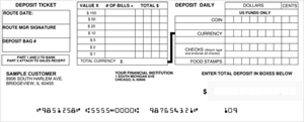 Loose Business Deposit Slips Style 6 | DEP-BDL06