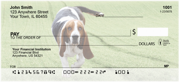 Basset Hounds Personal Checks | DOG-07