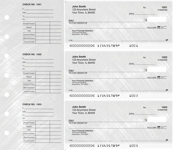 Brushed Metal Designer Deskset Checks | DS-CDS02