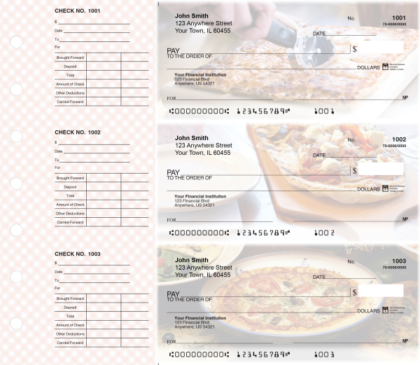 Pizza Designer Deskset Checks Style 2 | DS-CDS07