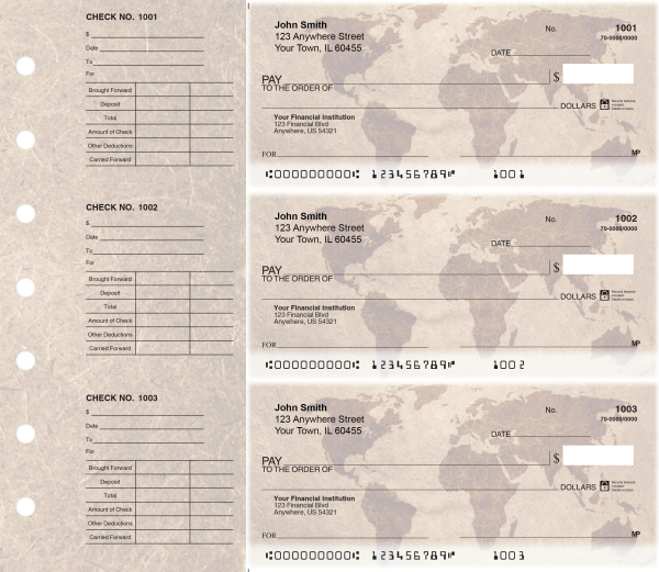 World Map Designer Deskset Checks | DS-CDS33