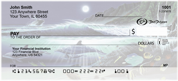 Dolphins Personal Checks by David Dunleavy | DUN-02