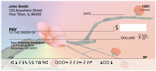 Japanese Cherry Tree Personal Checks | FLO-22