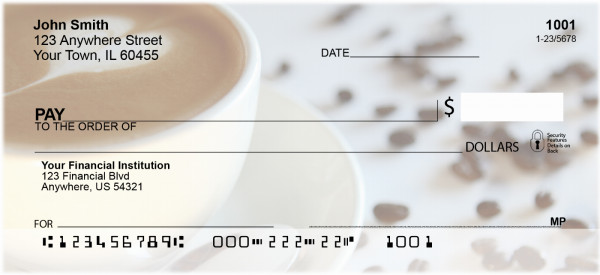 Coffee Lovers Personal Checks | FOD-11