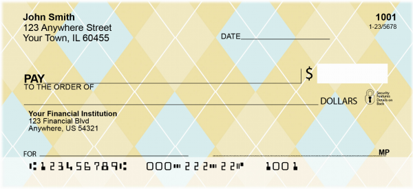 Argyle New Personal Checks | GEO-11
