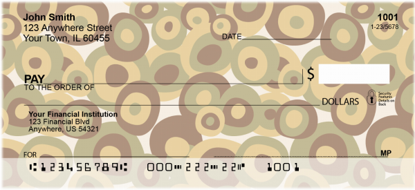 Retro Pitted Olives Personal Checks | GEP-47