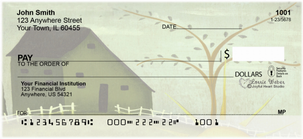 Homespun Seasons Personal Checks by Lorrie Weber | JHS-05