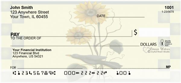 Sunflowers and Crows Checks by Lorrie Weber | JHS-07