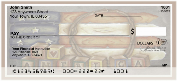 Americana Picket Flag Personal Checks by Lorrie Weber | JHS-08