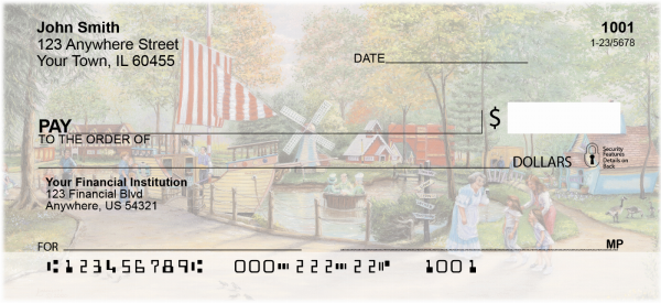 Amusement Park Scenes Personal Checks | LBC-04