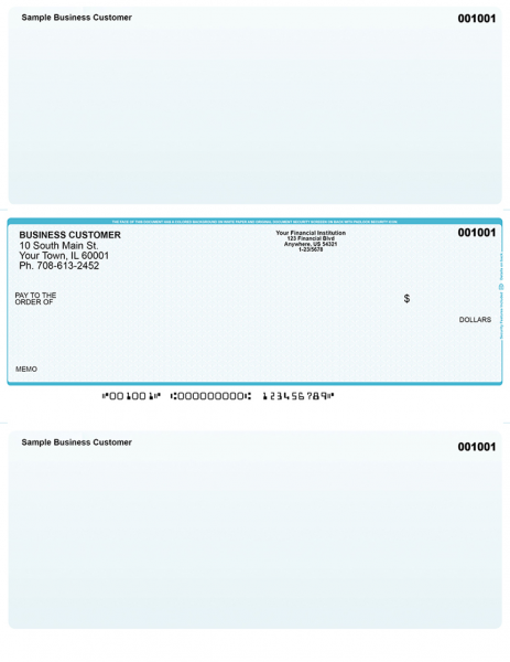Teal Safety Middle Style Voucher Checks | LMC-AS