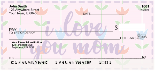 I Love You, Mom Personal Checks | LOV-24