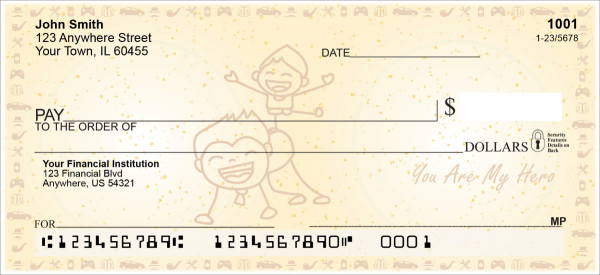 Dad is my Hero Personal Checks | LOV-26
