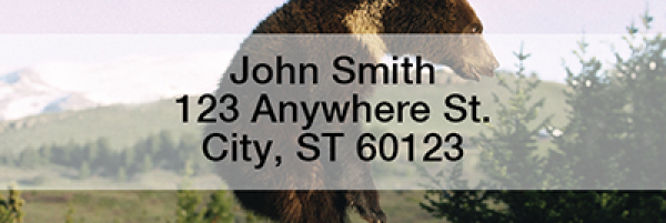Bears in the Wild Narrow Address Labels | LRANI-10