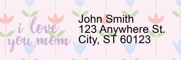 I Love You, Mom Narrow Address Labels | LRRLOV-24