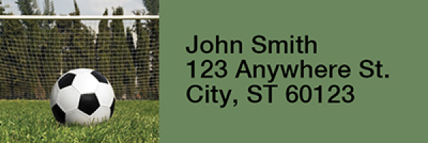 Soccer Rectangle Address Labels | LRRSPO-13