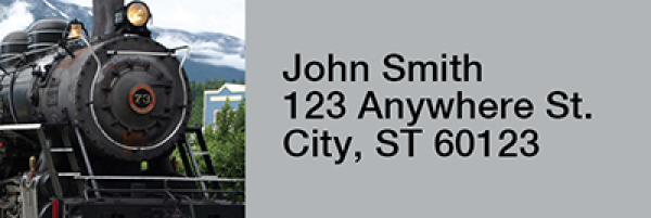 Steam Trains Rectangle Address Labels | LRRTRA-07