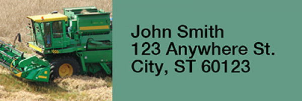 Big Green Machines Narrow Address Labels | LRRTRA-15