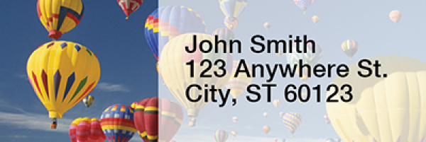 Hot Air Balloons Narrow Address Labels | LRRTRA-42