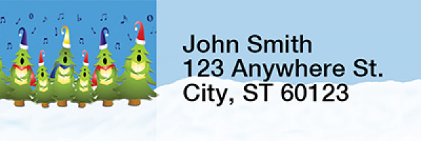 Joyful Trees Narrow Address Labels | LRRXMS-07