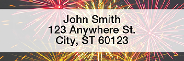 Fireworks Rectangle Address Labels | LRSCE-03