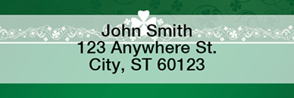 Irish Border Rectangle Address Labels | LRTVL-17