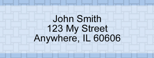 Blue Safety Narrow Address Labels | LRVAL-001