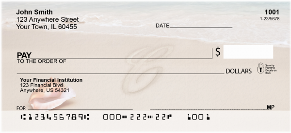 Sand Written Monogram 'C' Personal Checks | MONO-07C