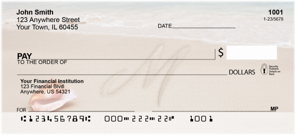 Sand Written Monogram M Personal Checks | MONO-07M