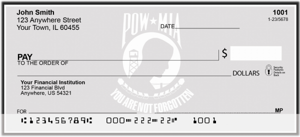 POW/MIA Personal Checks | PAT-18