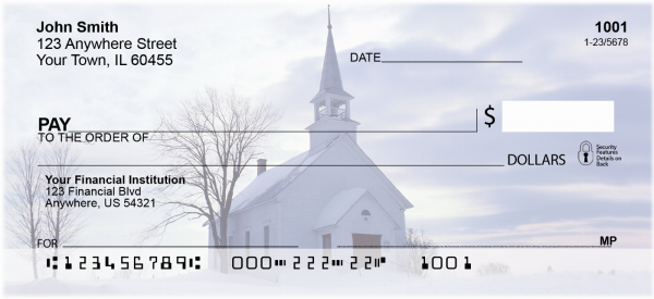 Church And Steeples Personal Checks | REL-16