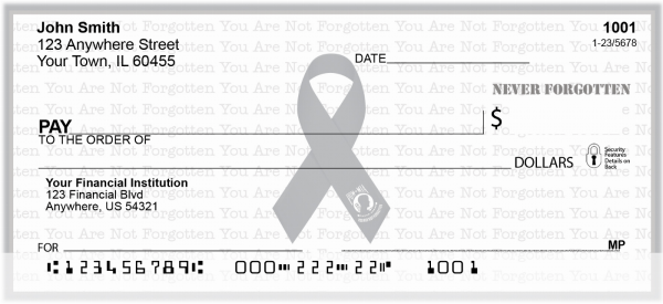 POW/MIA Never Forgotten Checks | RIB-23