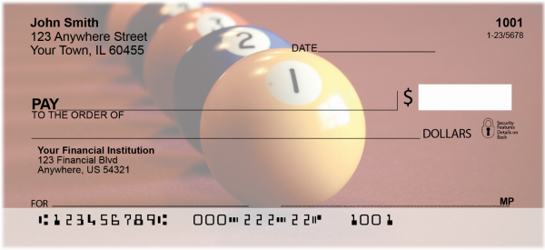 Rack em up Billiards Personal Checks | SPO-A2