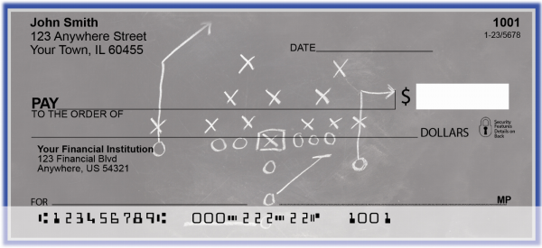 Blue & Silver Football Team Personal Checks | SPT-03